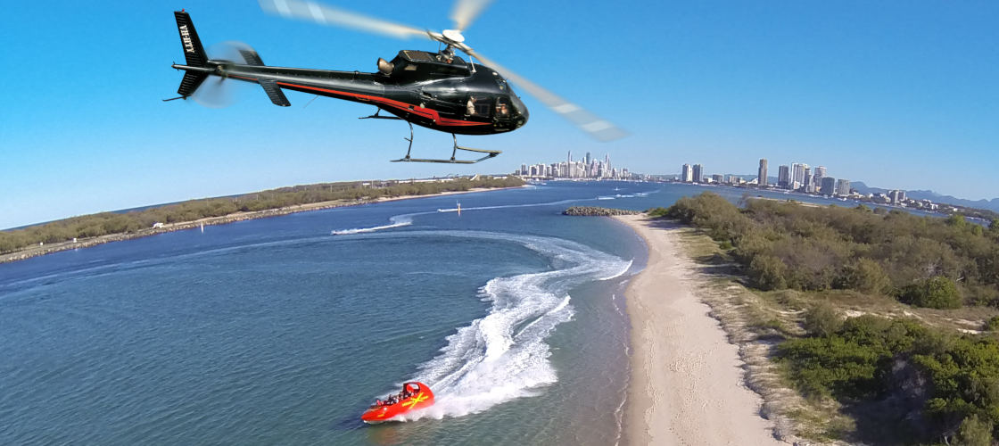 Surfers Paradise Jet Boat and Helicopter Package